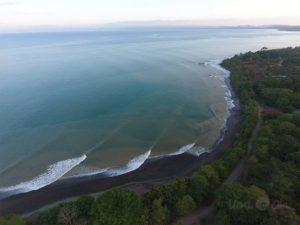 Aerial view of Bahia Pavon, Costa Rica