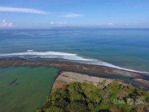 Rio Claro de Pavones from drone