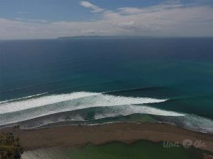 waves at pavones from the air
